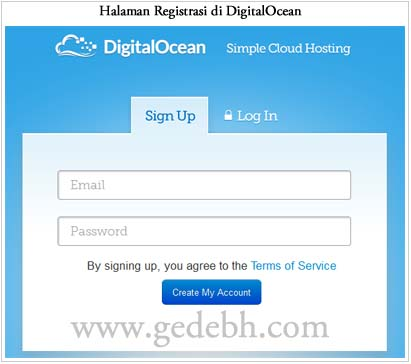 Registrasi Digitalocean